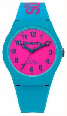 Superdry Städtische teal Silikonband Armbanduhr SYG164AUP