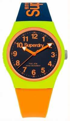 Superdry Städtische neatness orange Silikonband Armbanduhr SYG164MU