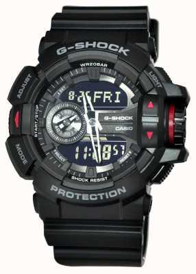 Casio Schwarze Herren G-Shock Chronographenuhr GA-400-1BER