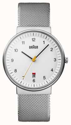 Braun Mens silver white Uhr BN0032WHSLMHG