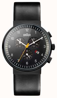 Braun Herren Chronograph ganz schwarze Uhr BN0035BKBKG