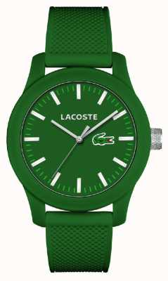 Lacoste Mens 12.12 grün Silikonband grün Wahl 2010763
