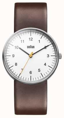 Braun Mens weiß braun Uhr BN0021WHBRG