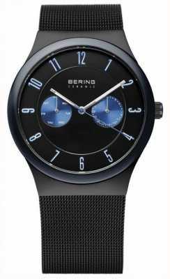 Bering Herren schwarz Mesh Armband Keramik 32139-227