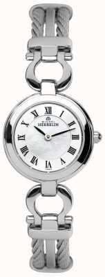Michel Herbelin Stahlseil Damen Armband-Uhr 17422/B29