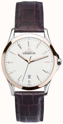 Michel Herbelin Gents Leier Stahl & Rotgold Armband Uhr 12213/TR12MA