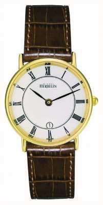 Michel Herbelin Ladies vergoldet klassischen Lederband 16845/P08GO
