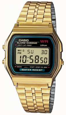 Casio Mens digitale Retro vergoldet A159WGEA-1EF