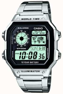 Casio Digitale Multifunktions-Timer Welt Quarz AE-1200WHD-1AVEF