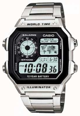 Casio Digitaler Multifunktions-Weltzeituhr-Quarz AE-1200WHD-1AVEF