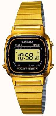 Casio Frauen digitalen Armband retro vergoldet LA670WEGA-1EF