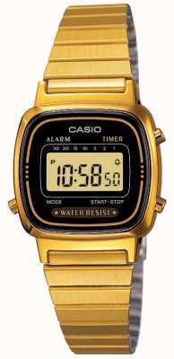 Casio Damen digitales Armband retro vergoldet LA670WEGA-1EF