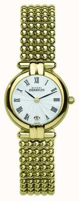 Michel Herbelin Damen gold PVD beschichtet Zifferblatt silber 16873/BP08