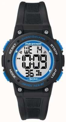 Timex Marathon Digital schwarzes Gummiband blau TW5K84800