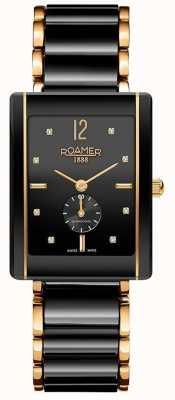 Roamer Damen Ceraline Saphira schwarz Keramik Gold 690855485960