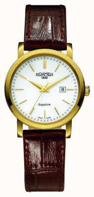 Roamer Klassische Linie | braunes Lederband | weißes Zifferblatt 709844-48-25-07
