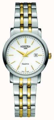 Roamer Klassische Linie | zweifarbiger Edelstahl | weißes Zifferblatt 709844-47-25-70
