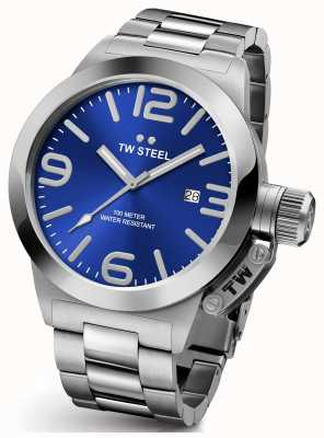 TW Steel Gents Kantine 45mm Edelstahl blaues Zifferblatt CB11