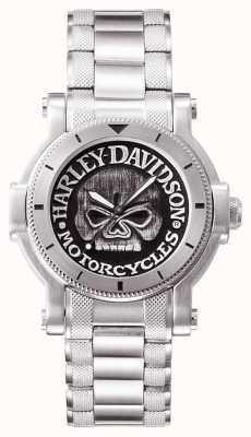 Harley Davidson Mens willie g Schädel Armbanduhr 76A11