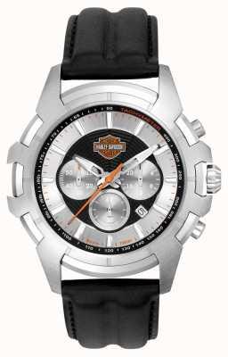 Harley Davidson Mens Schwarz und Silber Spider Web-Design 76B161