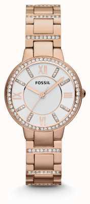 Fossil Frauen Virginia Roségold PVD beschichtet ES3284
