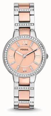 Fossil Frauen Virginia zwei Ton rosa Wahl ES3405