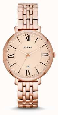 Fossil Ladys Jacqueline Roségold PVD beschichtet ES3435