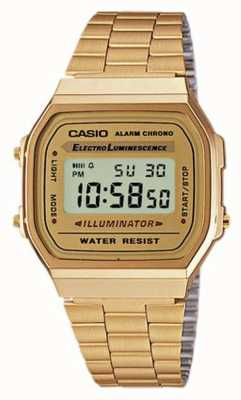Casio Unisex vergoldete Retro Digital Kollektion A168WG-9EF