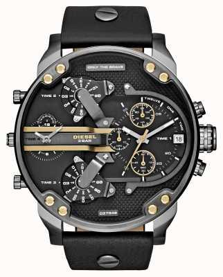Diesel Mens mr daddy 2.0 schwarzem Leder Chronograph DZ7348