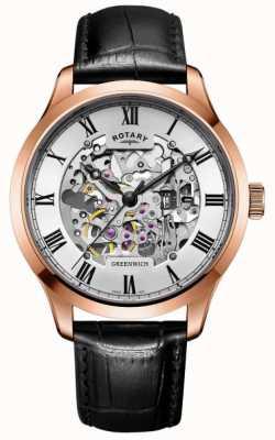 Rotary Automatisches roségoldbraunes Armband für Herren GS02942/01