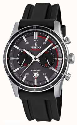 Festina Mens Tour of Britain 2015 schwarzes Kautschukband F16874/H