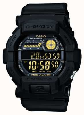 Casio G-Schock vibrierende 5 Alarmuhr schwarz gelb GD-350-1BER