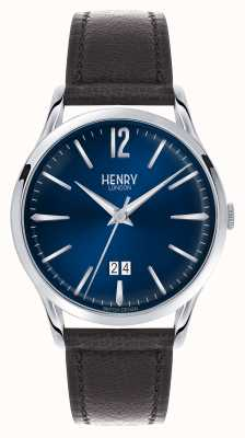 Henry London Knightsbridge Uhr | braunes Lederband | HL41-JS-0035