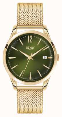 Henry London Chiswick vergoldet Netz grünen Wahl HL39-M-0102