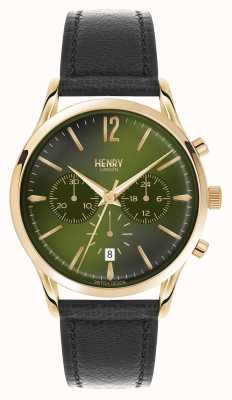 Henry London Chiswick schwarzer Lederband Chronograph HL41-CS-0106