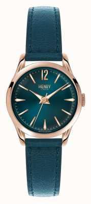 Henry London Blaues Lederarmband und Zifferblatt von Stratford HL25-S-0128