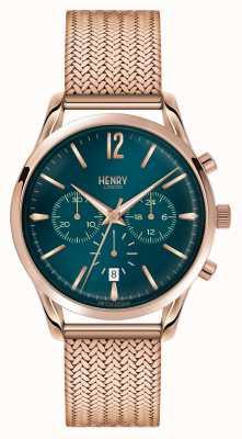 Henry London Stratford rosé vergoldet Netz Chronograph HL39-CM-0142