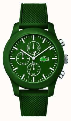 Lacoste Mens 12.12 chrono grünen Gummiband grün Wahl 2010822