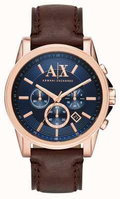 Armani Exchange Mens blau dunkelbraun Chronograph AX2508