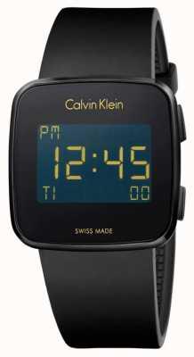 Calvin Klein Unisex zukünftigen digitalen schwarzen Kautschukarmband K5C214D1