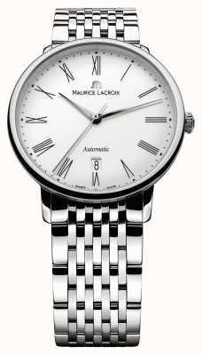 Maurice Lacroix Klassische Herrenuhr mit Automatikuhr aus Stahl LC6067-SS002-110-1
