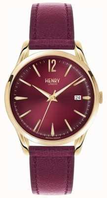 Henry London Unisex holborn Burgund Leder bordeaux Wahl HL39-S-0066