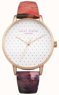 Daisy Dixon Suki Rose Glanzlederarmbanduhr für Damen DD008PRG