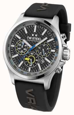 TW Steel Mens VR46 Edelstahl Armband aus schwarzem Kautschuk TW938