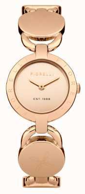 Fiorelli Womens Rose Goldarmband Roségold Zifferblatt FO001RGM