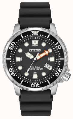 Citizen Eco-Drive Promaster Taucher schwarzen Kautschukarmband BN0150-28E