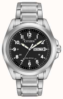 Citizen Eco-drive schwarzes Zifferblatt Sportarmband AW0050-82E