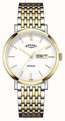 Rotary Mens zwei Ton vergoldet GB05301/01