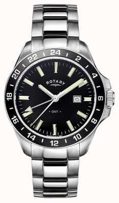 Rotary Herren Havanna Edelstahl GMT GB05017/04