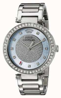 Juicy Couture Damen Silber Band runden silberfarbenen Zifferblatt 1901266